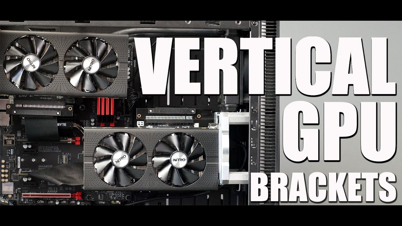 How to Mount Vertical GPU with Installation Brackets by MNPCTECH COM