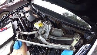 Снятие и переборка трапеции стеклоочистителей Audi A6 C6 (VAG)