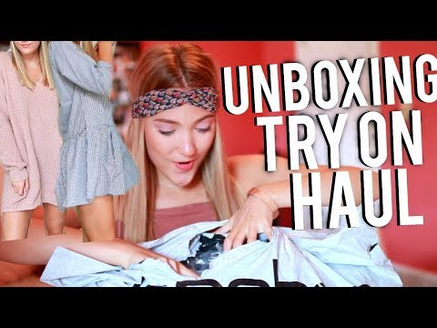 HUGE UNBOXING BACK TO SCHOOL TRY ON HAUL!