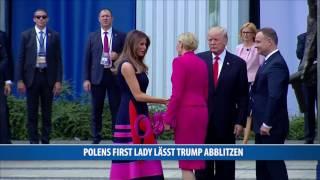 Peinlich für Trump: Polens First Lady lässt ihn hängen