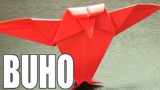 Origami de animales | Como hacer un búho de papel en origami paso a paso (Muy fácil) ORIGAMI OWL