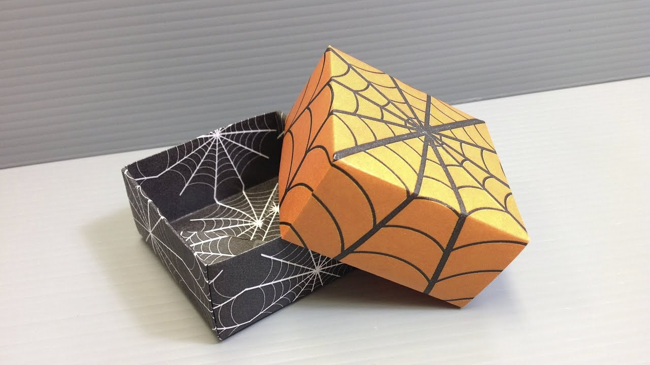 Halloween Origami Spider Web Pattern Boxes - Print Your ... - photo#16
