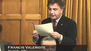 Frank Valeriote's Member Statement on Kairos