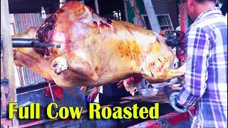 FULL COW ROASTED - Asian Street Food, Fast Food in Asia, Cambodian Street food #269