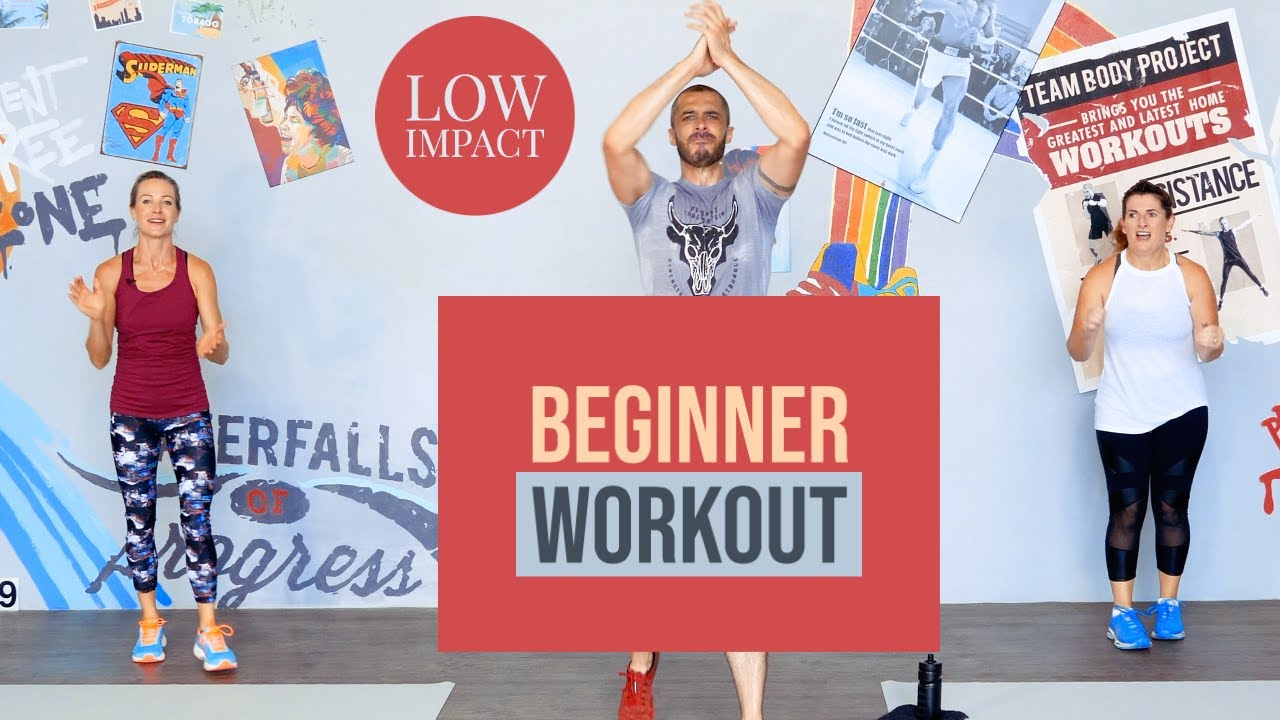 Standing low impact beginner workout with Team Body Project
