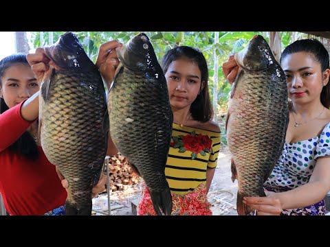 Cooking Big Fish Fry With Fish Sauce Recipe - Natural Life TV