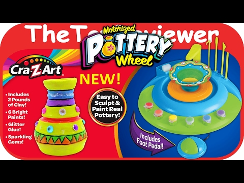 NEW Cra-Z-Art Motorized Pottery Wheel Foot Pedal Clay Paint Unboxing Toy Review by TheToyReviewer