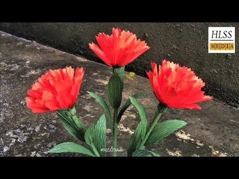 Com fer crêpe paper clavells fàcil  Diy Origami dels clavells de paper de flors a fer tutorials