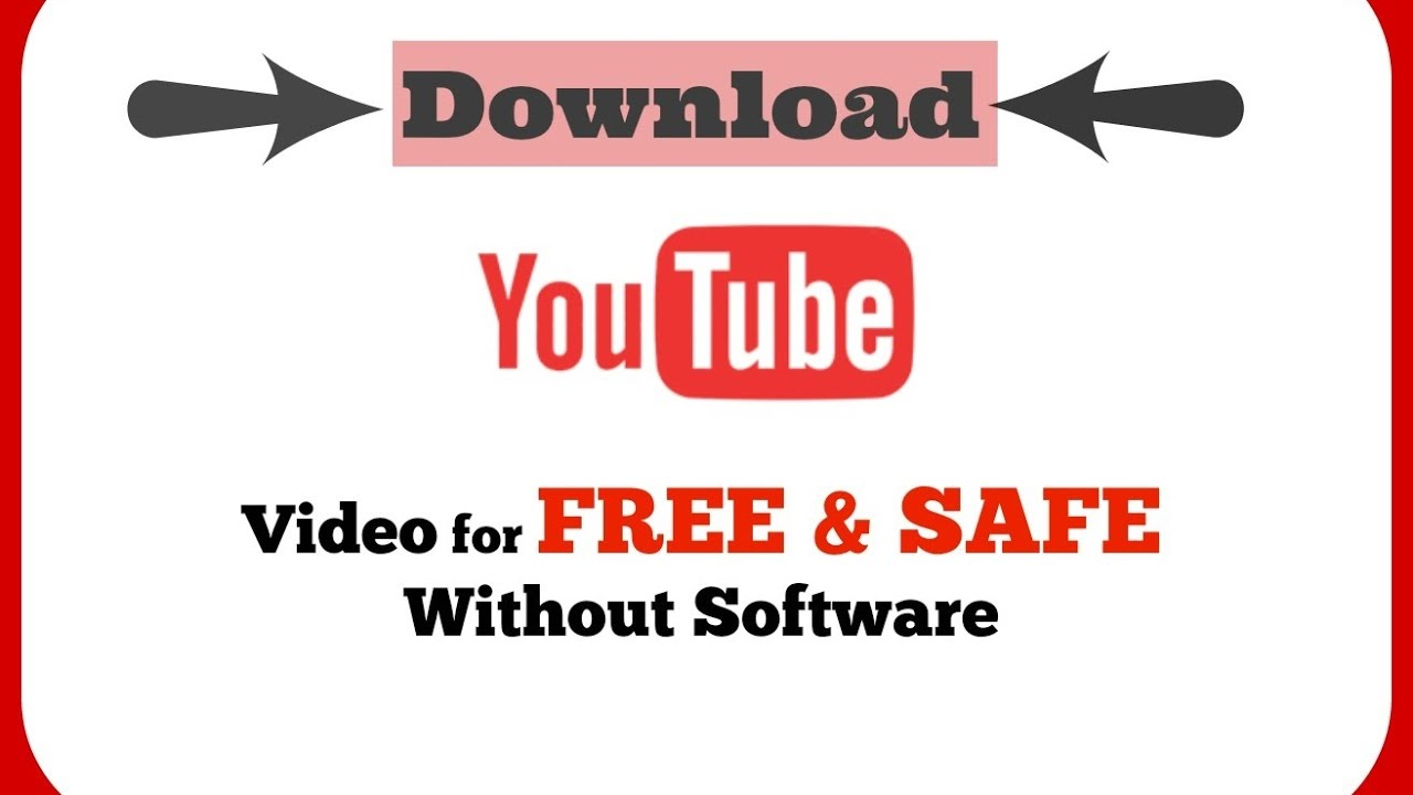 How To Download Video From Youtube On Laptop Or Pc Without Any Software
