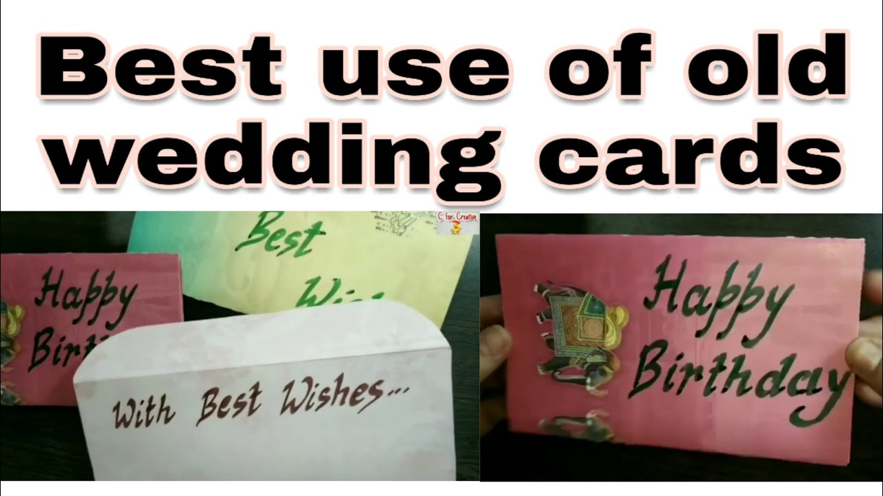 Best use of old wedding cards | Reuse of old invitation cards | Wedding cards diy | C for Creative