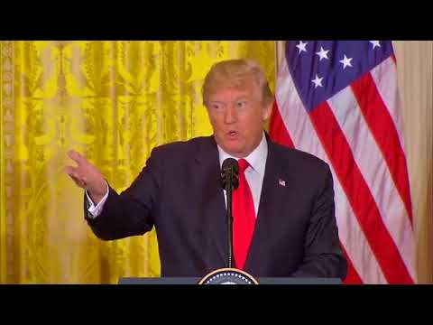 President Donald J. Trump holds a joint press conference with Norwegian Prime Minister Erna Solberg.
