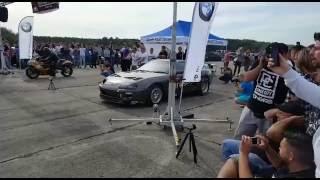 1038 HP Supra vs 483 HP Hayabusa Turbo on a drag strip