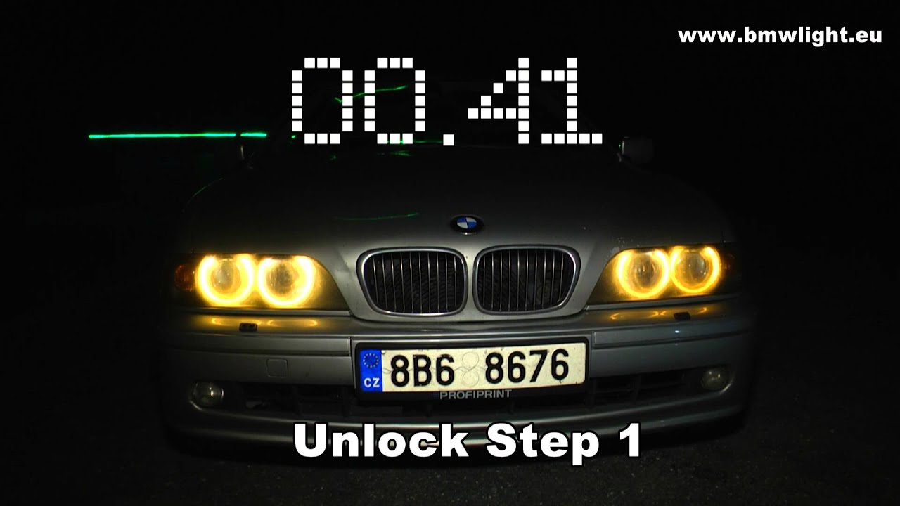Beautiful BMW E38 E39 E52 E53 E46 Welcome And Follow Me Home Light Module With  Automatic Unlock   YouTube