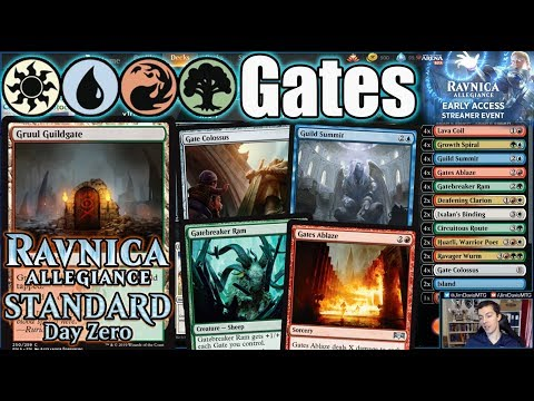 Ravnica Allegiance Standard Day Zero: Four Color Gates Early Access Sponsored Streamer Event