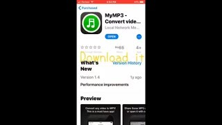 Convert your videos to MP3 on IOS11