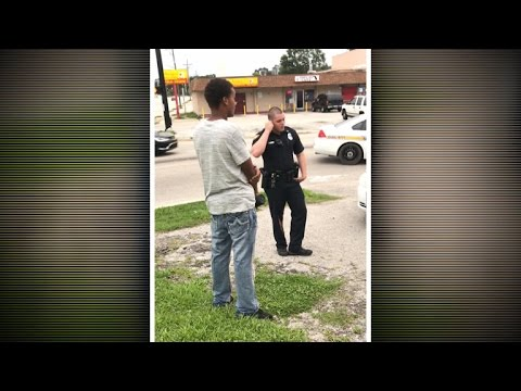 Video shows Florida officer threatening man for jaywalking