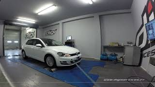 VW Golf 7 1.4 tsi 122cv Reprogrammation Moteur @ 160cv Digiservices Paris 77 Dyno