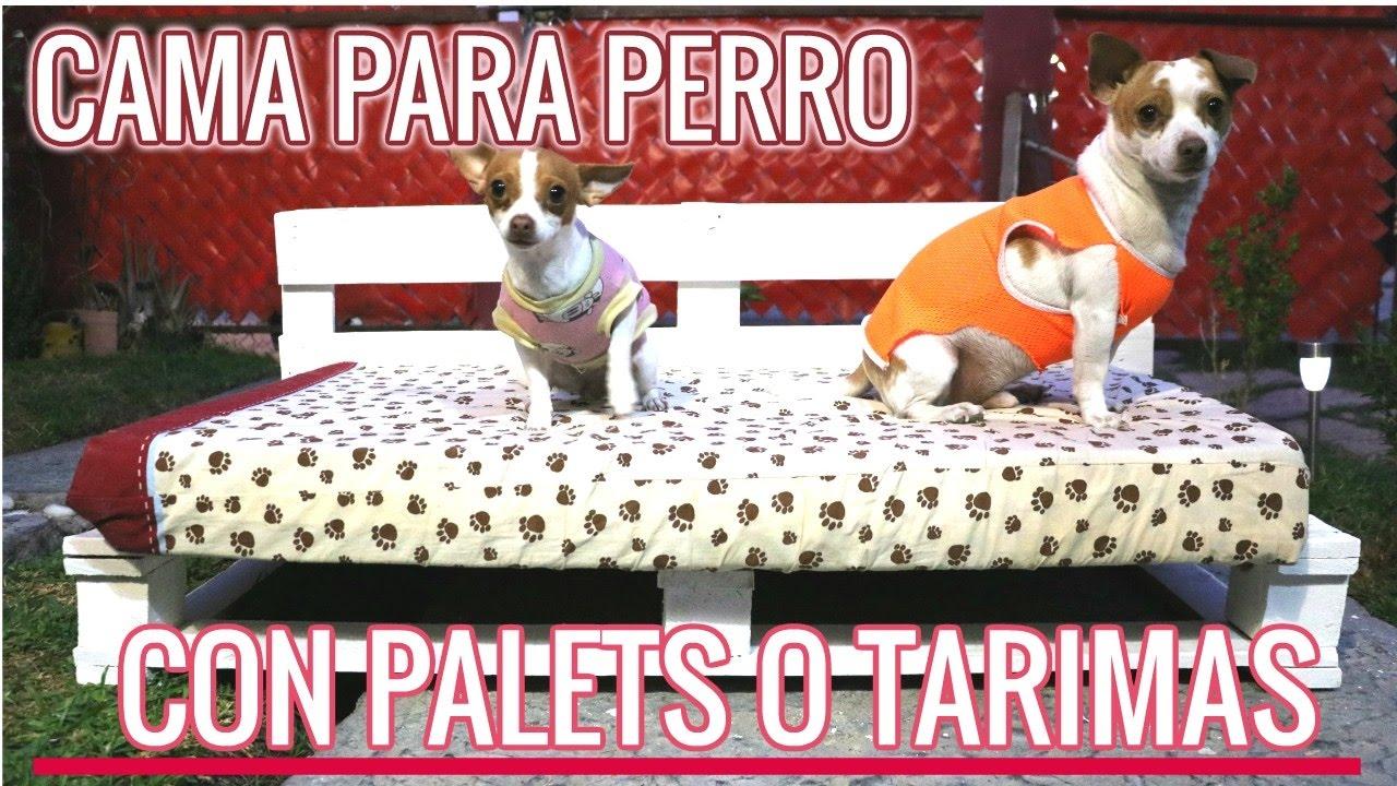 Como hacer cama perro o gato con palets cama perro - Como hacer cabezales de cama ...