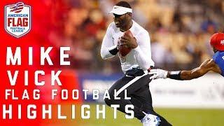 Michael Vick Highlights: Flag Football Semifinals   NFL