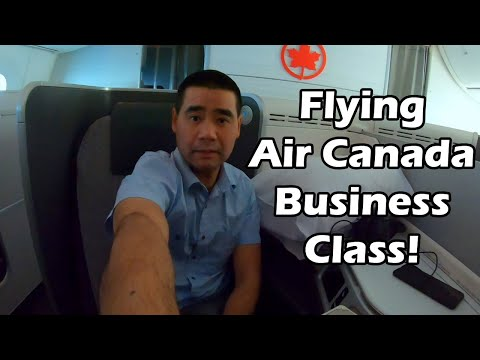 Flying Air Canada Business Class - Vancouver To Taipei Review - Taiwan Vlog 1