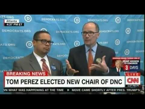 Press Conference between Tom Perez New Chair of the DNC and his Vice Chair Keith Ellison