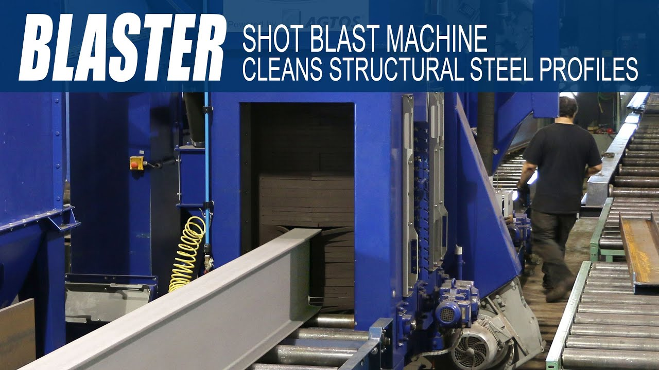Ocean Blaster Shot Blast Machine For Surface Cleaning Of -5850
