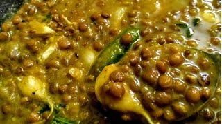 Easy Masoor dal Curry  Plain masoor dal with garlic tadka  Masoor dali saaru-upkari (konkan)