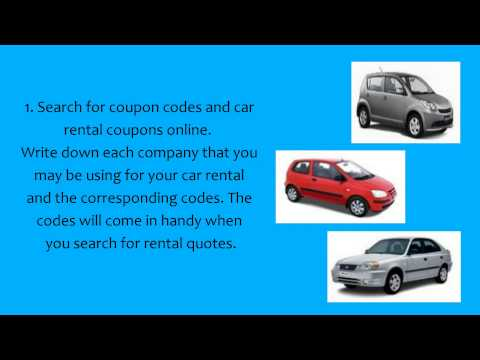 How to Get Cheap Rental Car Deals