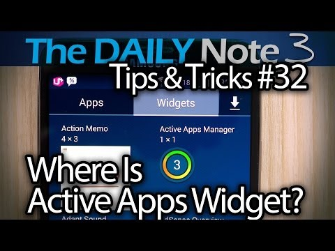 Samsung Galaxy Note 3 Tips & Tricks Ep. 32: Where To Get Active Apps Widget & Why You Should Use It