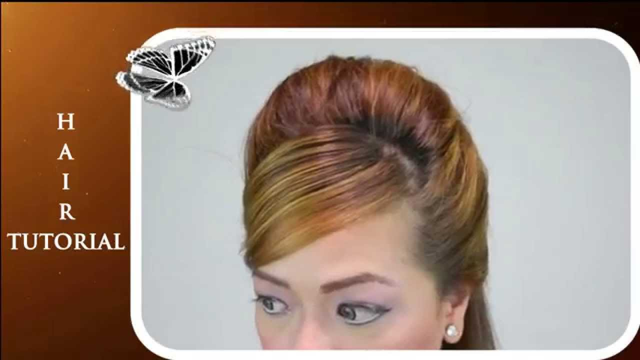 how to create a beehive hairdo