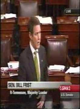 Frist Diagnosing Terry Schiavo on Senate Floor