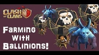 Clash of Clans Farming Attack Strategy : Balloons + minions