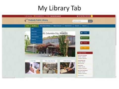 Peabody Public Library Website