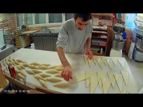 Façonnage de croissants et pain au chocolat pour la semaine (hier)