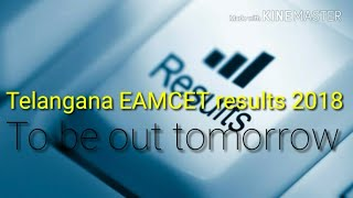 Telangana EAMCET results 2018 to be out tomorrow