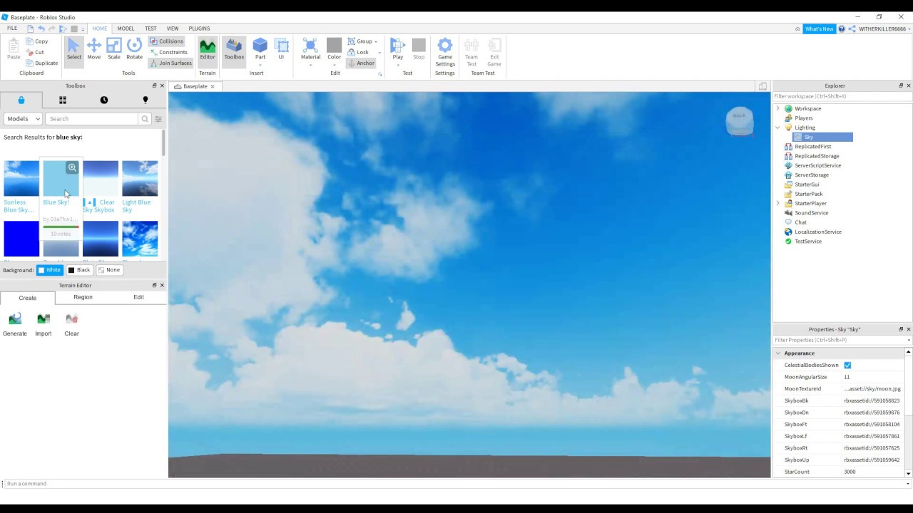 How To Change The Sky In Roblox Studios 2020 Youtube