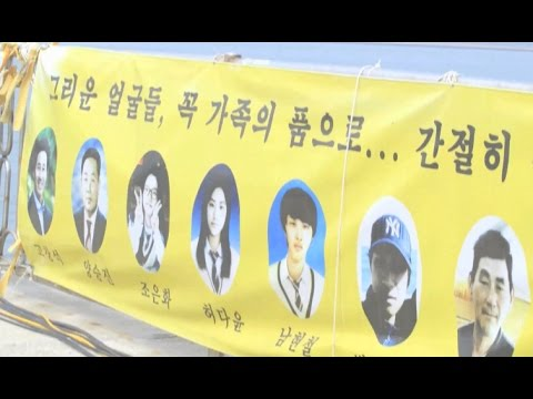 Families of the Victims of South Korea's Deadly Sewol Ferry Disaster Watched the Ship Being Lifted