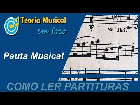 COMO LER PARTITURAS   Aula 01 - Pauta Musical ou Pentagrama