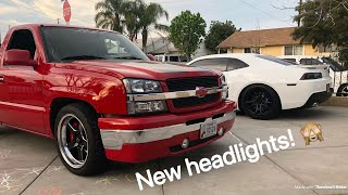 New Clear Black Housing Headlights For the RST Silverado! (Install Included!)