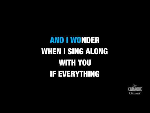 "Everlong in the Style of ""Foo Fighters"" karaoke video with lyrics (no lead vocal)"