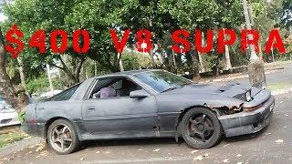 $400 5.0 supra low buck hot rod build  junkyard budget swap