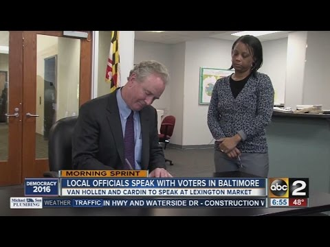 Chris Van Hollen and Sen. Ben Cardin Host Events in Baltimore and Silver Spring