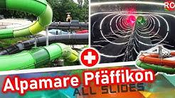 Alpamare Pfäffikon - alle Rutschen / all slides / tous les toboggans (in Switzerland)  ONRIDES 2019