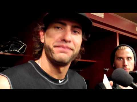 Michael Morse on jersey ripping walk off celebration