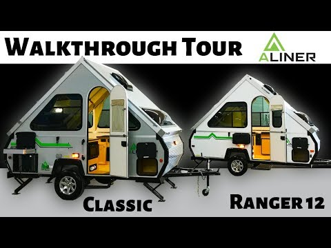 2019 Aliner Classic & Ranger 12 Folding Trailers - Walkthrough Tour