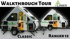2019 Aliner Classic & Ranger 12 Folding Trailers - Walkthrough Tour