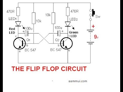 simple flip flop circuit using two transistors youtube rh youtube com
