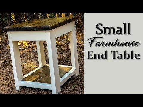 DIY Small Farmhouse End Table