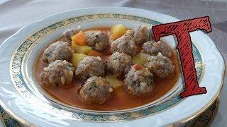 Boiled Meatballs Recipe | Turkish Meatball Soup | Meatball Recipe