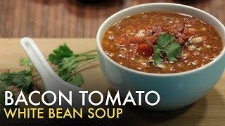 Bacon Tomato White Beans Soup   White Bean Soup   बेकन टोमेटो वाइट बीन्स सूप   Bacon Soup   Food Tak